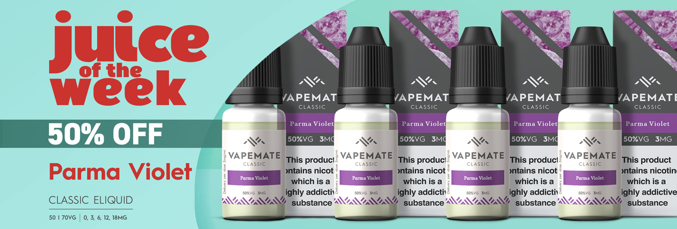Juice of the Week Vapemate Classic Parma Violet