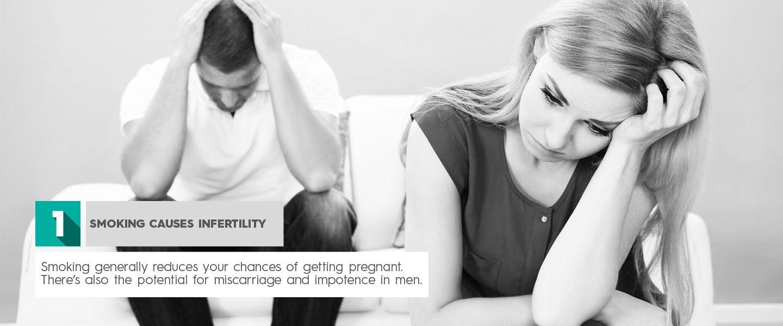 Arrêter de fumer Le tabagisme provoque l'infertilité