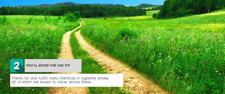 Arrêtez de fumer, vous éviterez le goudron