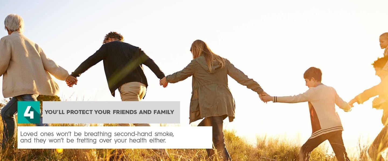 Arrêtez de fumer, vous protégerez vos amis et votre famille