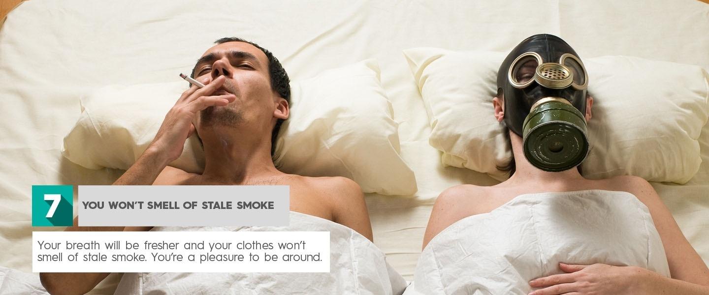 Arrêtez de fumer - vous ne sentirez pas la fumée périmée